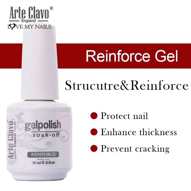 E Clavo 15 мл укрепить гель защищает укрепить прозрачный био-Гели Soak Off светодиодный матовый слой Базовое покрытие лак для ногтей Гибридный Лаки