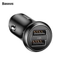 Baseus Dual USB Auto Ladegerät Für Handy Adapter 4.8A Schnelle Lade Auto USB Handy-ladegerät Für iPhone Samsung Xiaomi oneplus