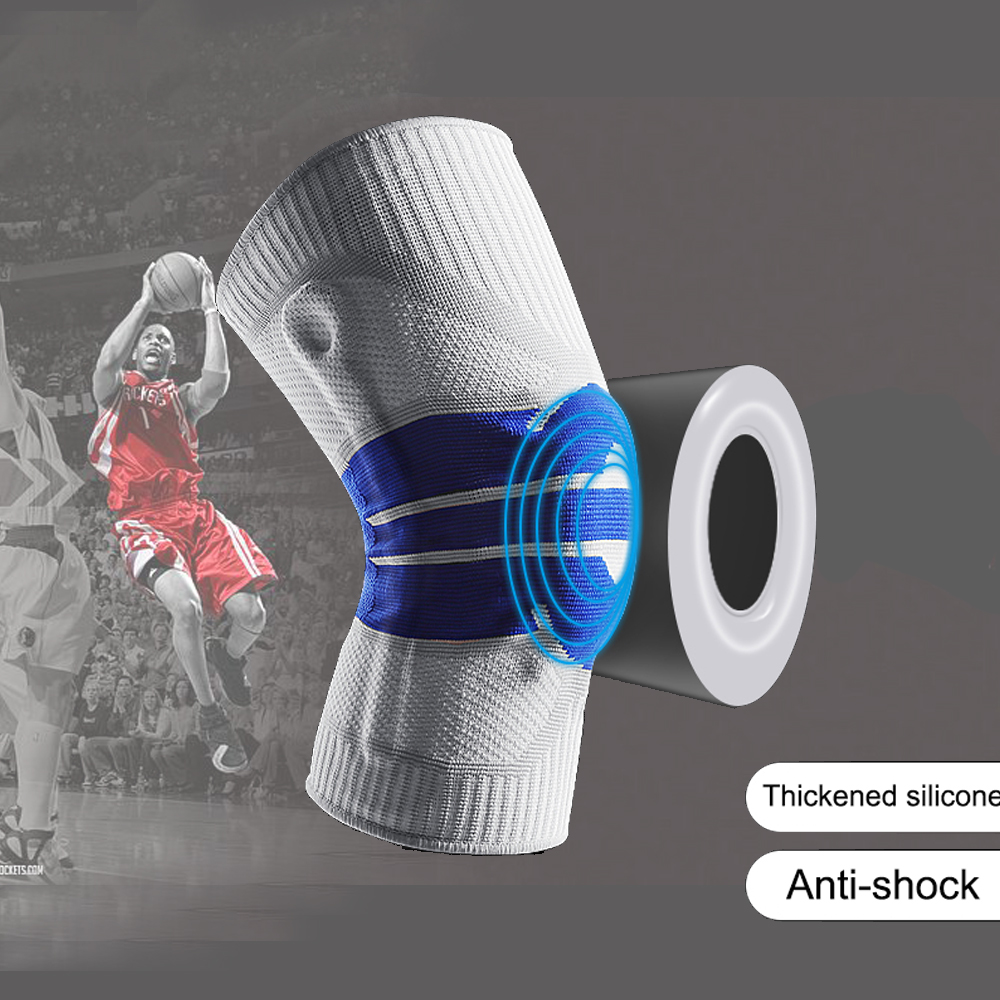 1 pcs Knee Patella Protector Brace Silicone Spring Knee Pad Basketball Running Compression Knee Support Sport Kneepads Joelheira