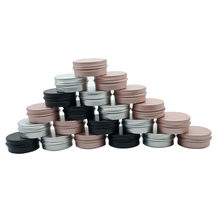 100pcs Cosmetic Container 5/10/15/20/30/50/60g Cream Can, Aluminum Can, Conditioner, Eye Cream Tin Can, Earring Storage Box