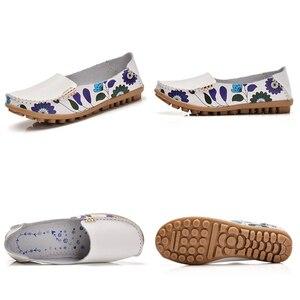 Image 5 - STQ 2020 sonbahar kadın Flats hakiki deri ayakkabı bale daireler üzerinde kayma balerinler Flats kadın ayakkabı Moccasins loafer ayakkabılar 170