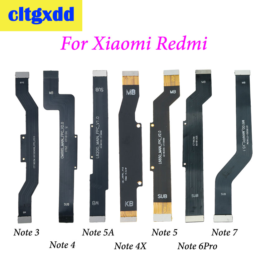 cltgxdd 1pc New For <font><b>Xiaomi</b></font> <font><b>Redmi</b></font> <font><b>Note</b></font> 3 3PRO 4 <font><b>4X</b></font> 5A 6PRO Note7 Main <font><b>Motherboard</b></font> Connector LCD Flex Cable image