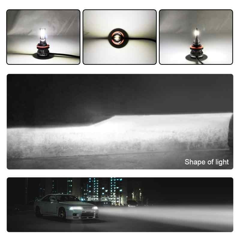 2 stuks COB H1/H3/H4/H7/H11/9005/9006/9012 90W 12000LM LED Auto Koplamp Kit Turbo Lampen 6000K Wit Licht Dropshipping