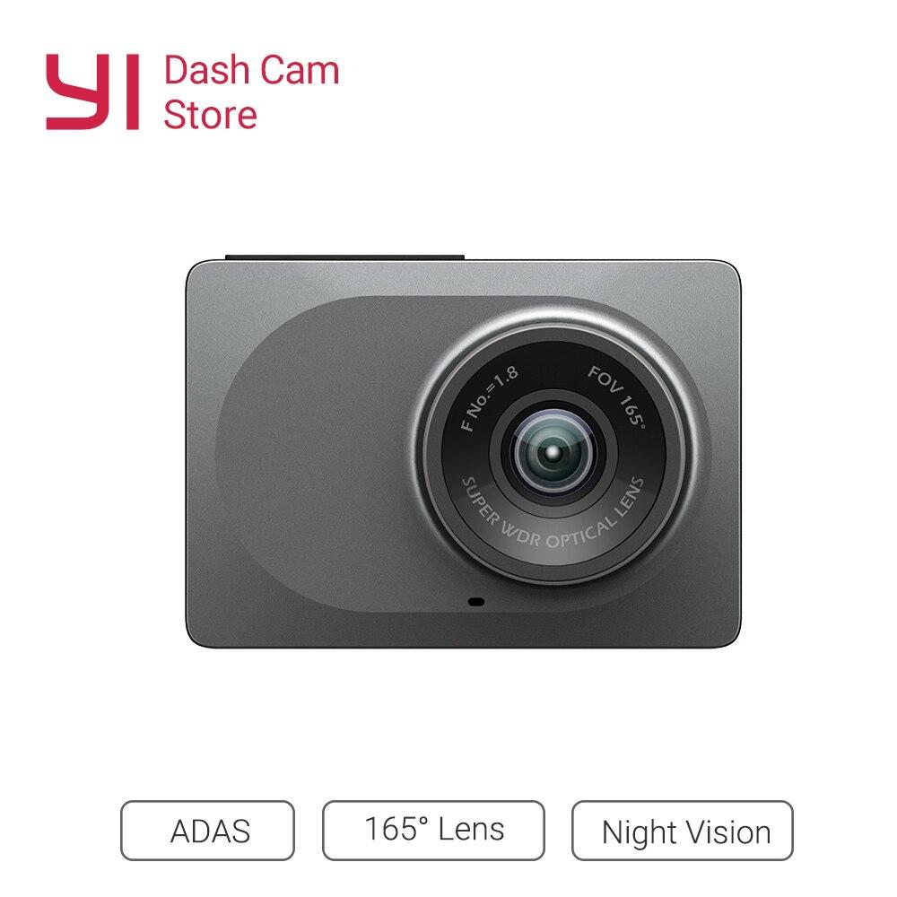 YI Inteligente Wi-fi Câmera Do Carro Traço DVR Recorder Com Night Vision165 Grau Câmera Do Carro Traço Cam 1080P 60fps ADAS registrator