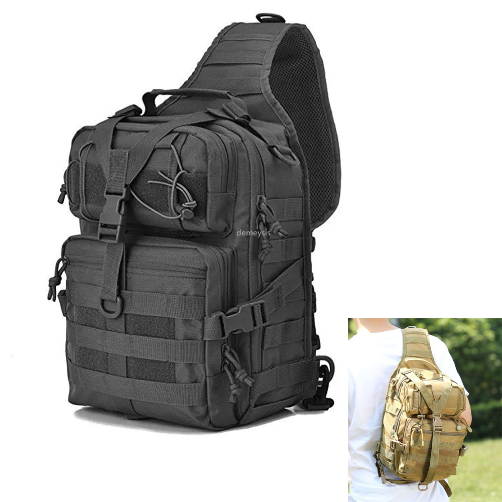 Tactical Assault Backpack Military Army Pack Molle Rucksack For Outdoor Travel Hiking Camping Hunting Chest Bag