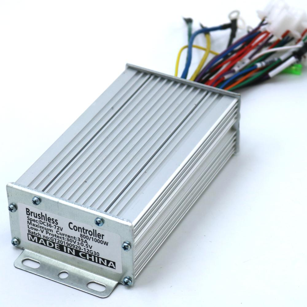 36-72V 800-1000W 35Amax 12 Mosfet Sensor/Sensorless  E-bike/Scooter/Motorcycle Brushless Speed Controller