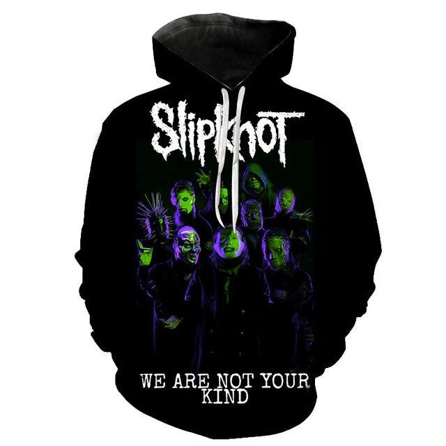 Slipknot 3D Print Hoodies Heavy Metal Rock Band Sweatshirt Men Women Fashion Streetwear Hoodie Hip Hop Pullover Tops Coat Unisex 6