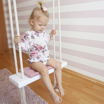 JOYLIVE Children's Room Decoration Ceiling Hanging Swing Rocking Chair INS Nordic-Style Indoor Swing Glider
