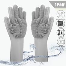 Silicone Magic Dishwashing Gloves Reusable Dishwasher Cleaning Silicone Washing Gloves Rubber Glove for Household Car Washing