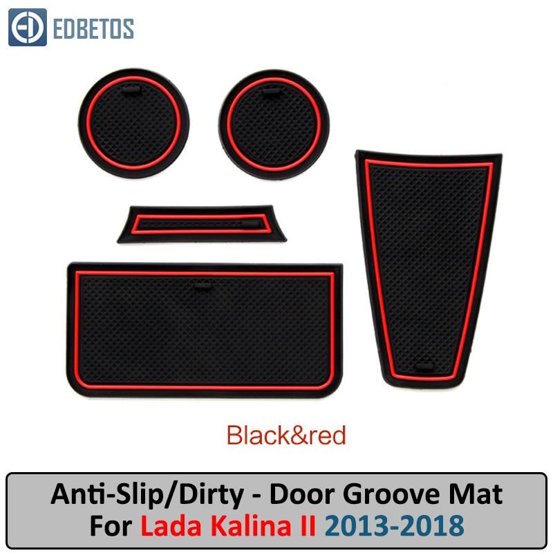Door Groove Mat For LADA KALINA 2013 2014 2015-2018 Anti-Slip Mat Gate Slot Coaster Anti-Dirty Mat LADA KALINA Accessories