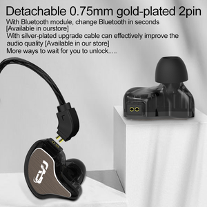 Image 2 - CVJ CS81BA+1DD In Ear Earbuds Hybrid Earphone HIFI Headset Eating chicken earphone call earpiece With 0.78mm 2Pin Replaced Cable