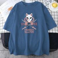 Camisetas con estampado de Demon Slayer para mujer, ropa creativa de viaje, Retro, s-xxxl, de manga corta, informal, de cuello redondo