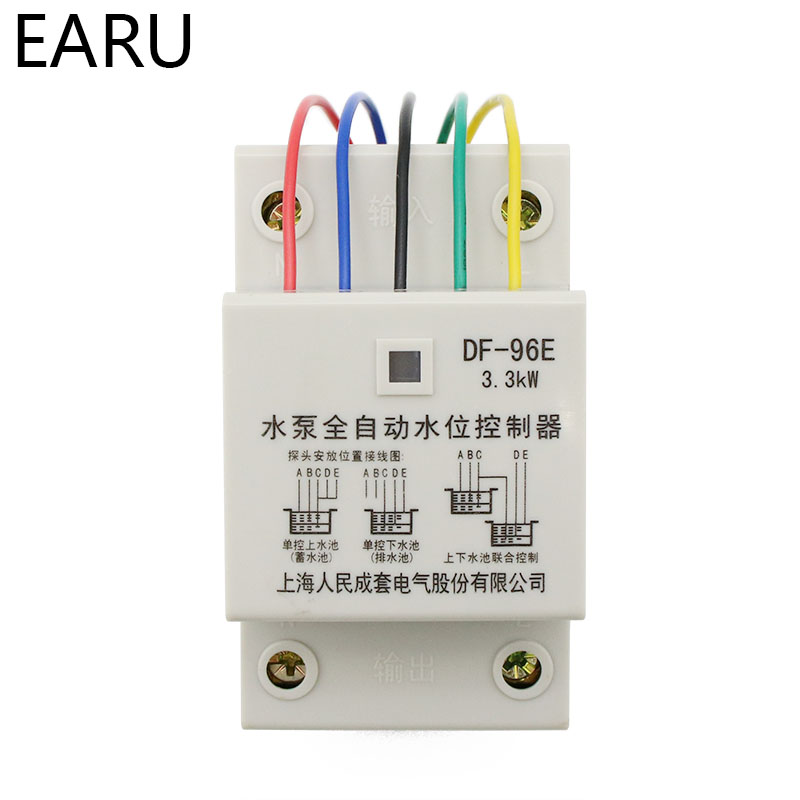 Image 2 - DF 96ED Automatic Water Level Controller Switch 10A 220V Water Tank Liquid Level Detection Sensor Water Pump Controller-in Flow Sensors from Tools