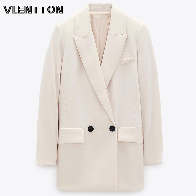2020 Spring Autumn Women OL Work Blazers And Jackets Pockets Solid Suit Coats Female Outwear Tops Elegant Office Blazer Feminino