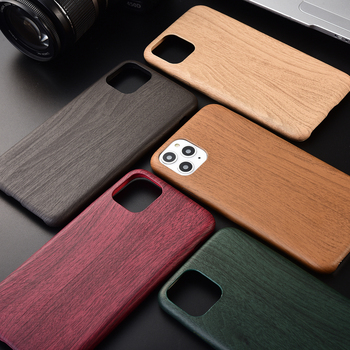 Wennew Wood Grain Litchi Vintage Soft PU Leather Phone Case For iPhone 12 11 Pro XR XS Max 6 6S 7 8 Plus Back Cover Coque Gifts image