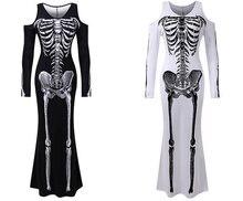 Костюм для представлений на Хэллоуин 2020 платье с черепом круглым