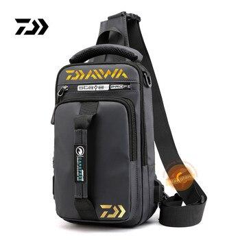 2020 New Daiwa Men Women Single Shoulder Fishing Bags Waterproof Leisure Multi Function Backpacks Fishing Gear Kit 777#