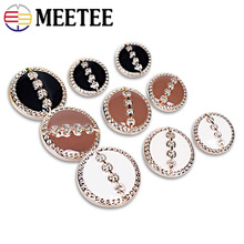 30pcs Meetee 18/22/25mm Plastic Resin Round Buttons for Sewing Coat Botones Clothes Decor DIY Scrapbooking Accessories B2-6