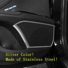 Lapetus Auto Styling Inner Door Stereo Speaker Audio Sound Loudspeaker Cover Trim For Toyota Camry 2018 - 2020 Stainless Steel