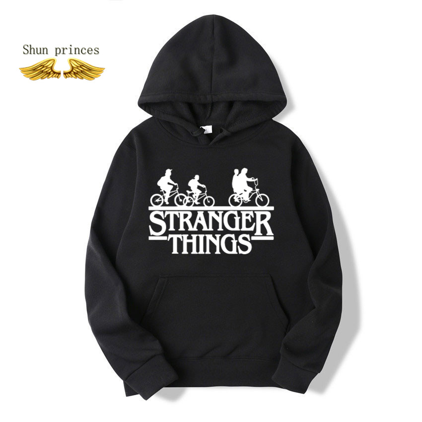 Trendy Faces Stranger Things Hooded Mens Hoodies And Sweatshirts Oversized For Autumn With Hip Hop Winter Hoodies Men Brand