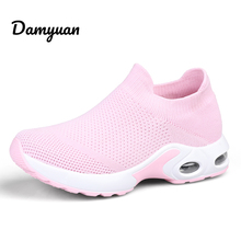 Damyuan Light Women Sneakers Breathable Comfortable Antiskid and Abrasion Resistant Height Increasing Running Shoes for Women