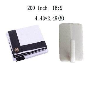 Thinyou портативный проектор экран 200 дюймов 16:9 без рамки холст ткань экран для HD led LCD проектор