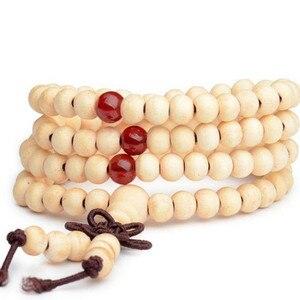 Image 3 - 1pc Sandalwood Buddhist Meditation Prayer Bead Mala Bracelet