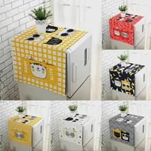 Dustproof Fridge Washing Machine Cover Towel Top Storage Bag Pocket Organizer Thick Cotton Linen Refrigerator Kitchen Product(China)