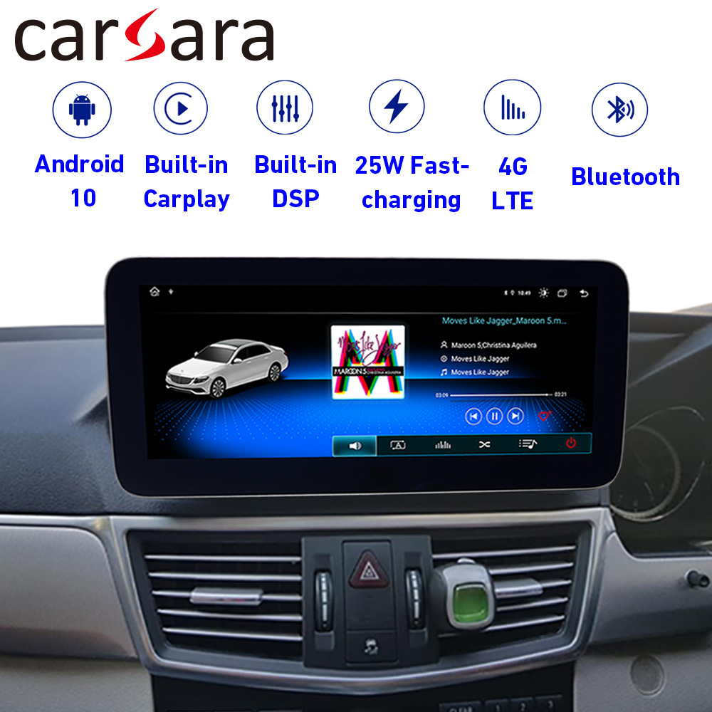 Android 10 4+64G Multimedia Touch Screen for <font><b>Benz</b></font> E Class W212 S212 2010-2012 E200 250 300 350 Display with GPS Nav carplay image
