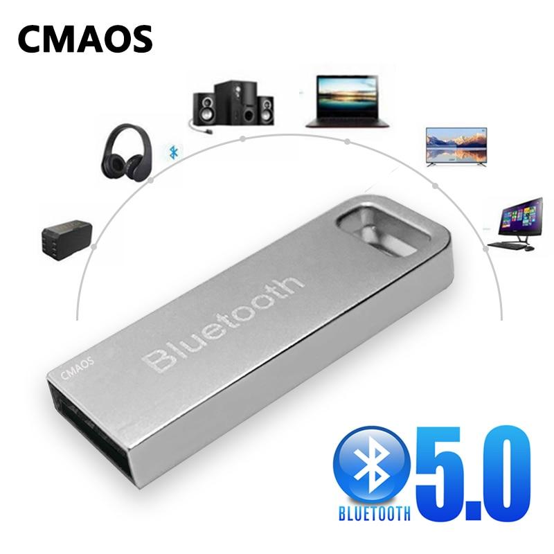 CMAOS абсолютно новый металлический автомобиль USB беспроводной aux bluetooth 5,0 аудио адаптер Bluetooth передатчик для зарядных порта USB для автомобиля ...