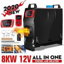 Warmtoo 8kw 12v aquecedor de carro tudo em um aquecimento de ar diesel máquina de aquecimento auxiliar aquecedor para caminhões motorhome barcos