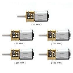Мотор-редуктор из нержавеющей стали, 3 в/6 в/12 В постоянного тока, 30 об/мин, 50 об/мин, 100 об/мин, 200 об/мин, 300 об/мин, N20