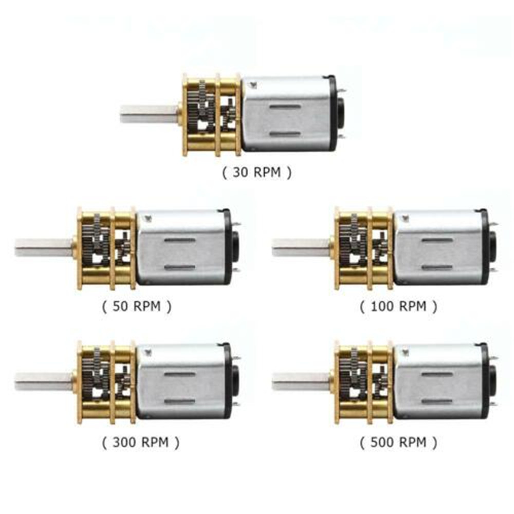 DC 3V/6V/12V 30RPM 50RPM 100RPM 200RPM 300RPM N20 Stainless Steel Gear Motor with Gearwheel DC Motors Micro Reduction Motor