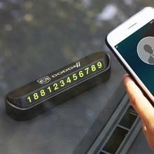 Para estacionamiento temporal de coche tarjeta de teléfono placa tarjeta del número para dodge calibre ram 1500 caravana cargador gran viaje accesorios de Auto