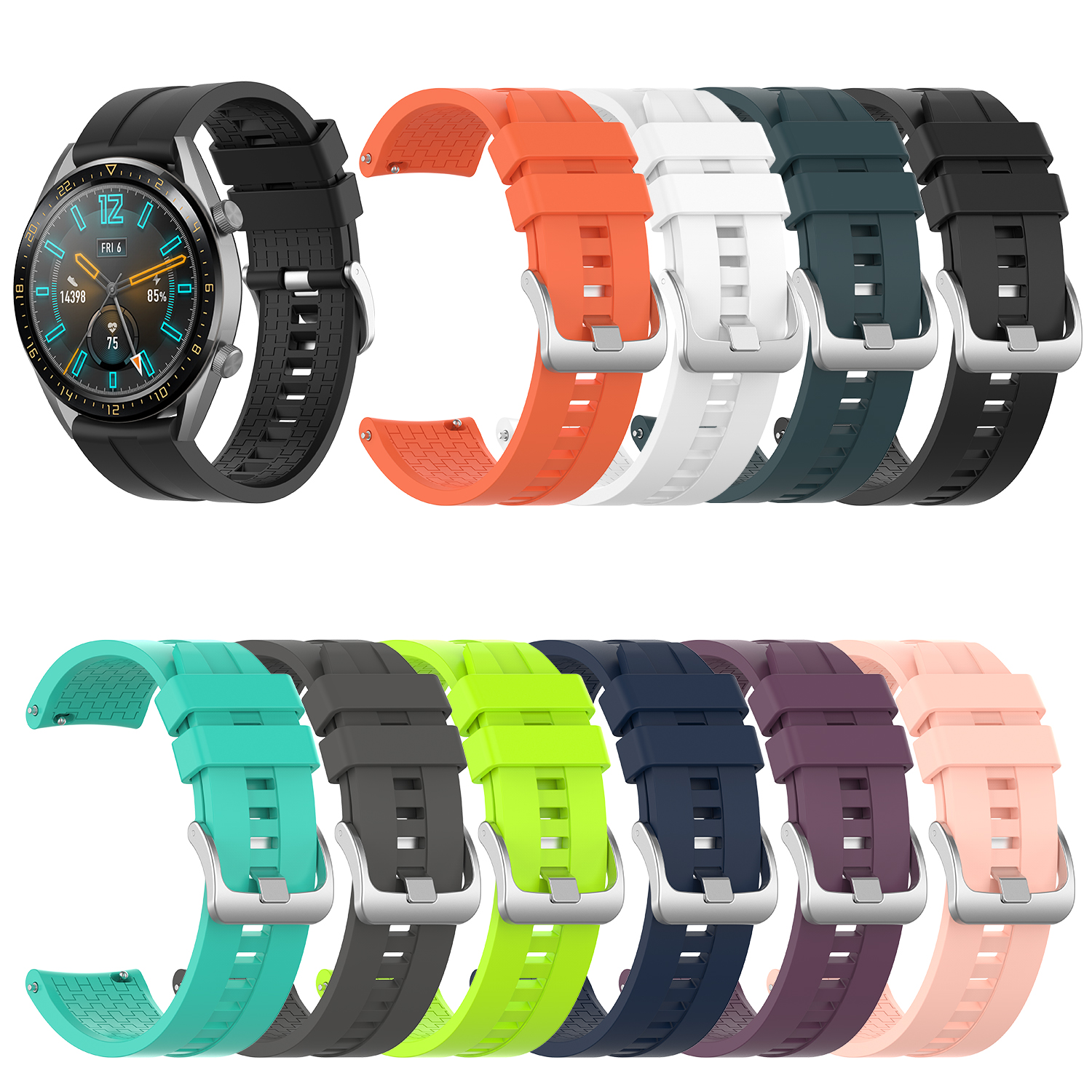 Watch Smartwatch Watchband Replacement Accessories For Huawei Watch GT 46mm Official Silicone Strap Universal Display Width 22MM