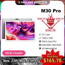 Teclast M30プロ10.1インチタブレットP60 8コア4ギガバイトのram 128ギガバイトromアンドロイド10タブレットpc 1920 × 1200 ips 4 3g通話デュアル無線lan gps tablette