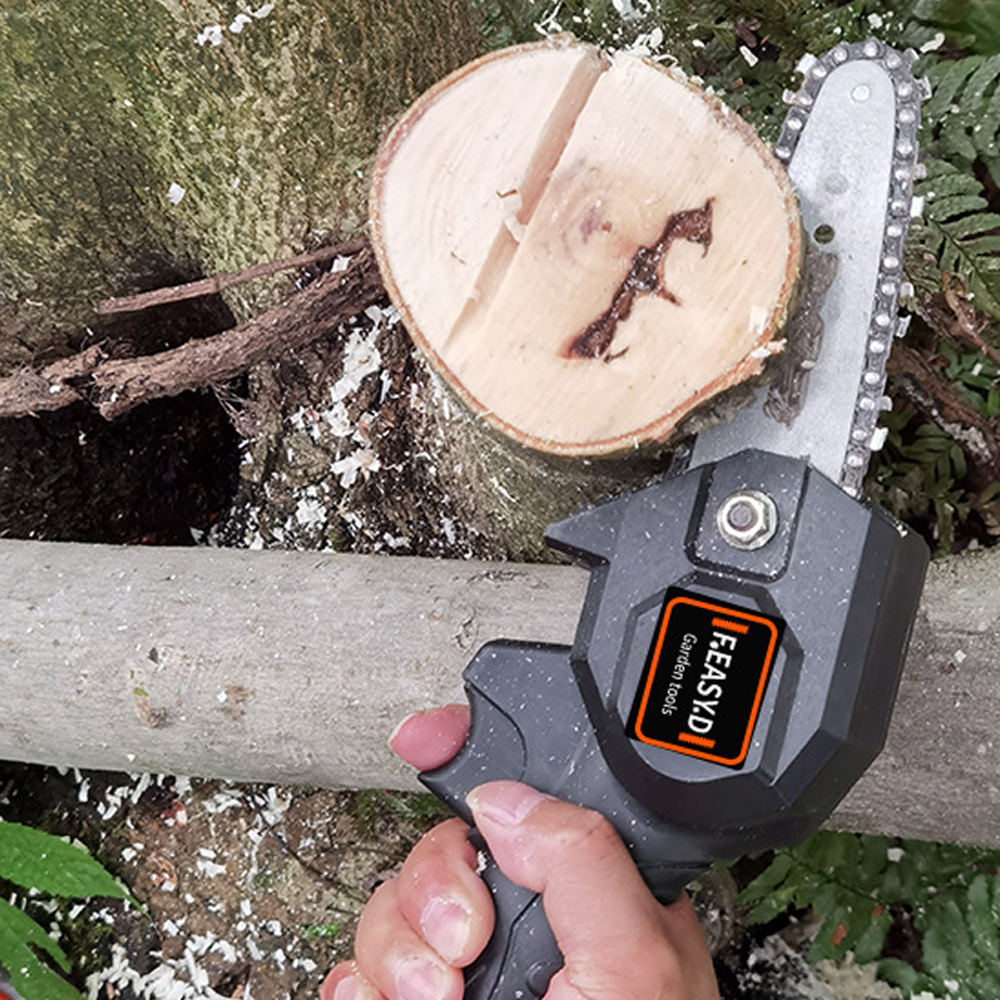 24V Chain Saw Rechargeable Battery Logging One Handed Electric Saws Pruning Saw Garden Electric Lithium Saw Woodworking Electric