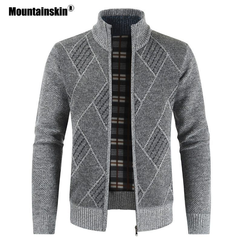 Mountainskin Mens Sweater Autumn Knitted Sweaters Men's Cardigan Jackets Coats Male Clothing Casual Knitwear SA853