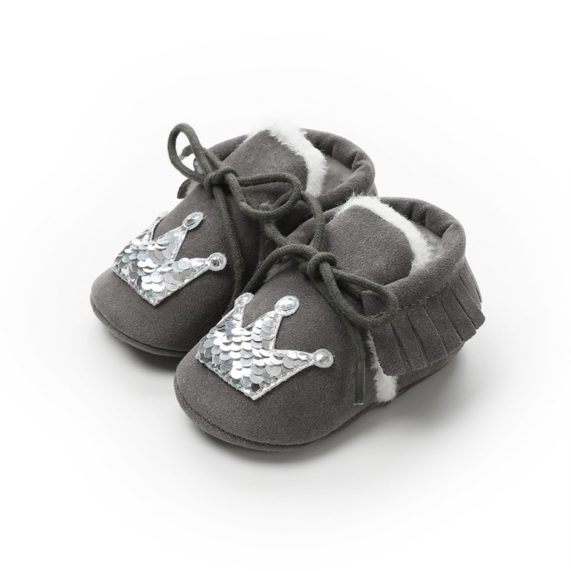 Child Kids Baby Girl Bow Soft Sneakers Boots Leather Anti-slip Shoes Moccasin US