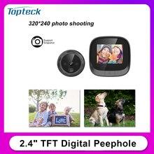 Camera Peephole-Viewer Eye-Doorbell Digital Night-Vision Home-Security IR for TFT Photo-Taking
