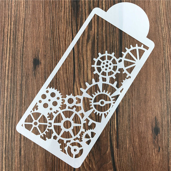 1PC DIY Car Wheel Shape Stencil Stencil Reusable Air Brush Painting Art Home Decor Scrap Booking Album Crafts image
