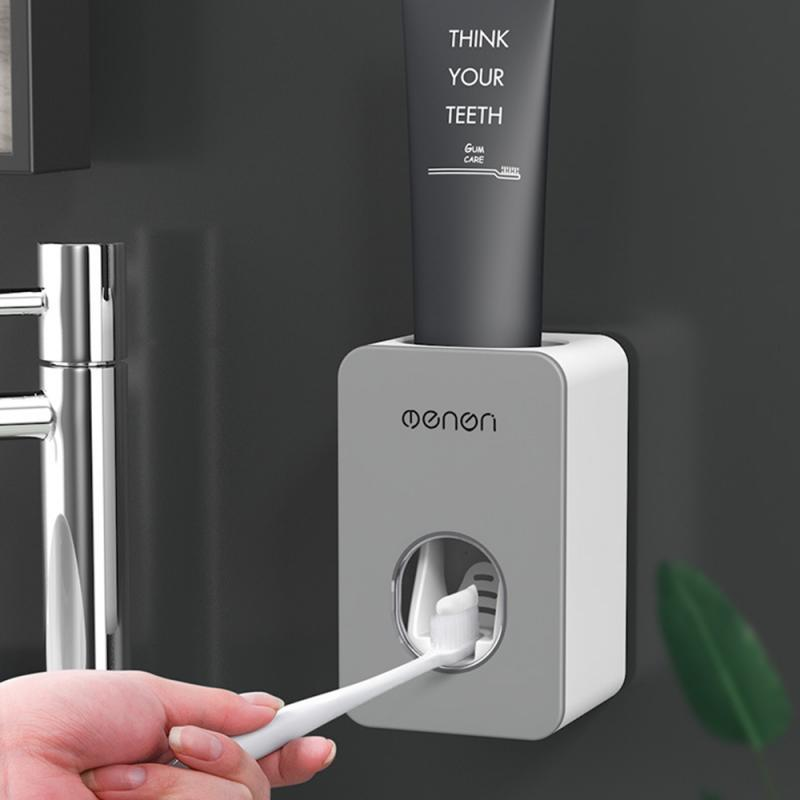 Fully Automatic Toothpaste Extruder Wall Hanging Perforation-free Toothpaste Toothbrush Holder Toothpaste Extruding Artifact