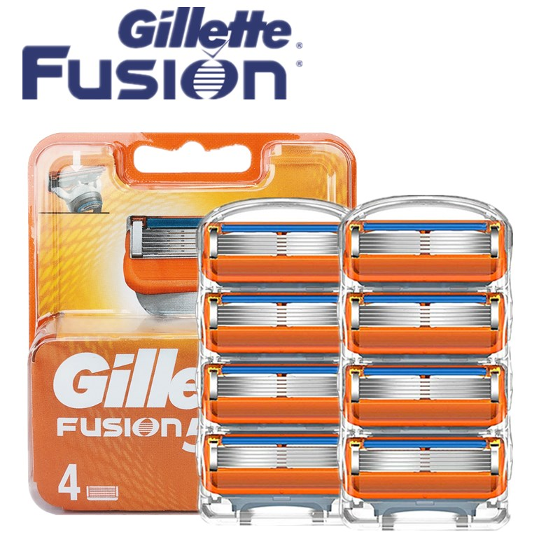 Original Gillette Fusion 5 Shaver Razor Blade Replacement Head For Men Manual Face Care Safety Shaving Blades Manual 5 Layer