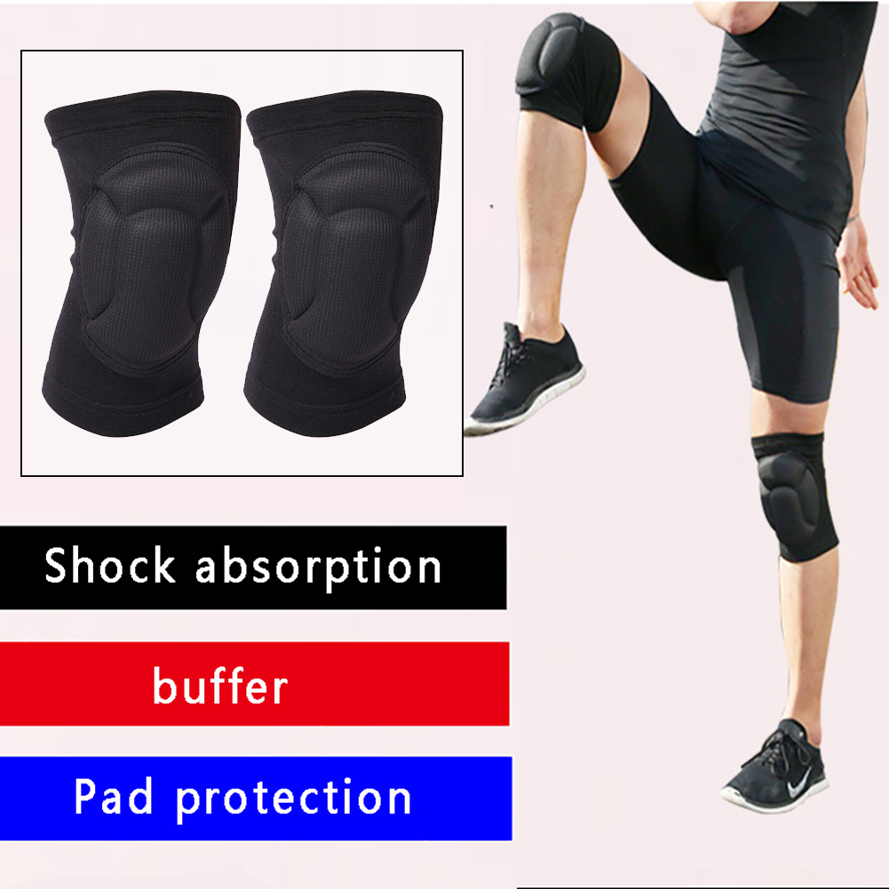 1 Pair Cycling Adult Construction Knee Pads Brace Joint Protector Thickened Outdoor Sports Kneelet Gardening Work Safety Wrap