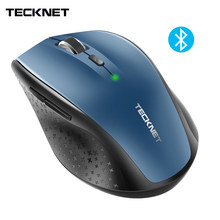 TeckNet Bluetooth Wireless Mouse BM308 Blue 3000DPI 2000DPI 1600DPI Ergonomic Mouse for Xiaomi Laptop PC Gaming mice(China)