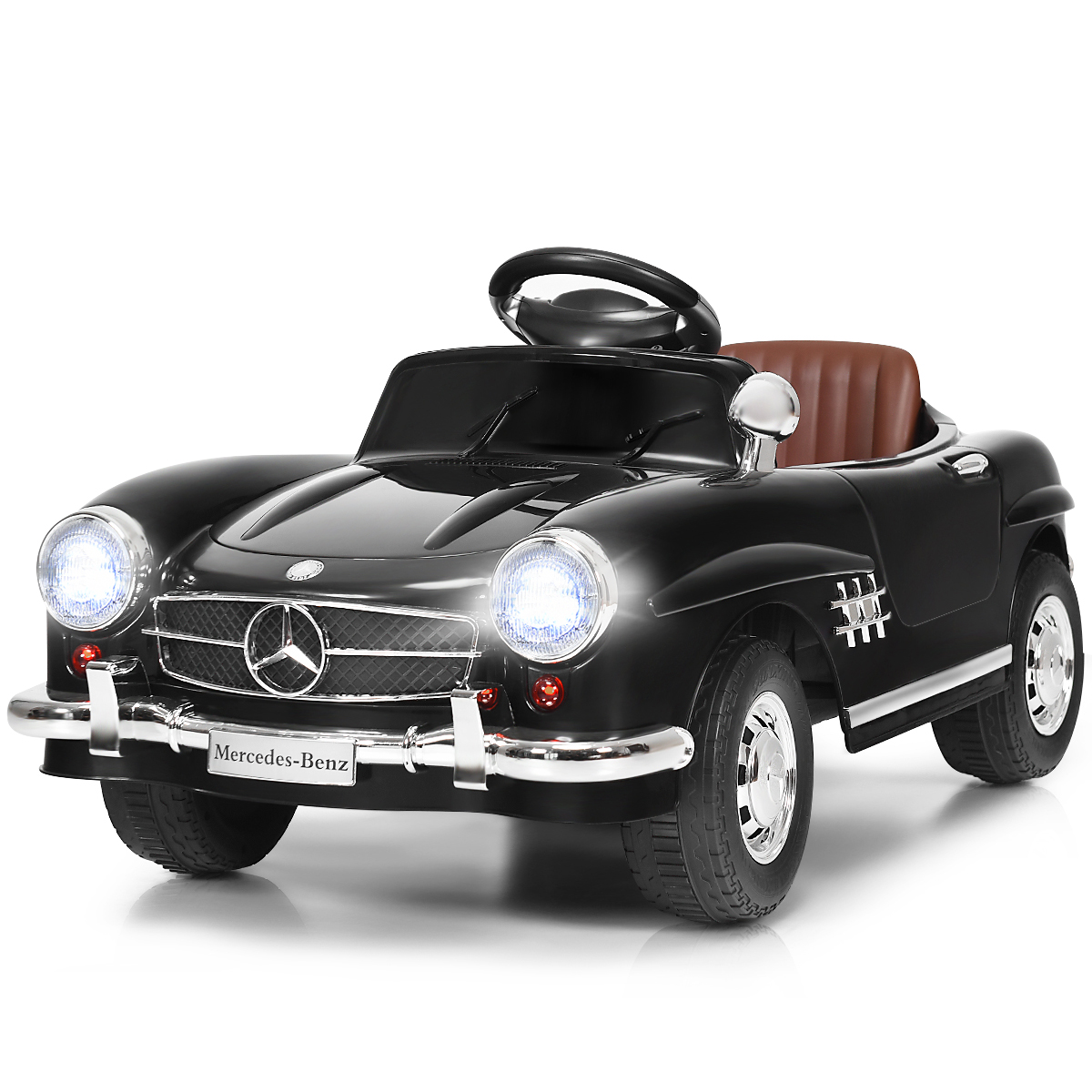New Black Mercedes Benz 300SL AMG RC Electric Toy Kids Baby Ride On Car