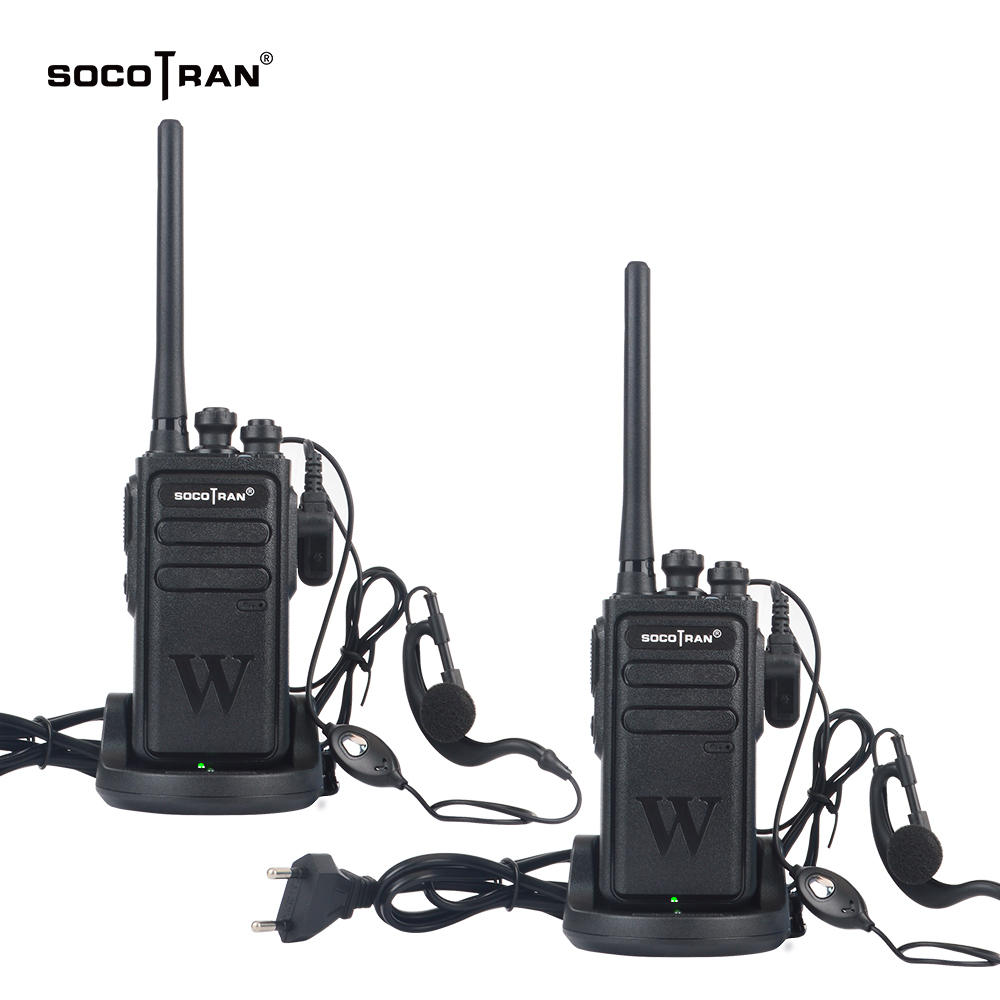 2pcs/lot Socotran WH-118 Walkie Talkie UHF Two Way Radio Station UHF 400-470MHz 16CH Portable Transceiver With Earpiece