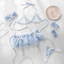 Lolita – ensemble d'uniforme de femme de chambre, Bikini, mignon, Anime, ensemble de Lingerie plissée, Costume Cosplay, Costume Sexy Kawaii pour femmes