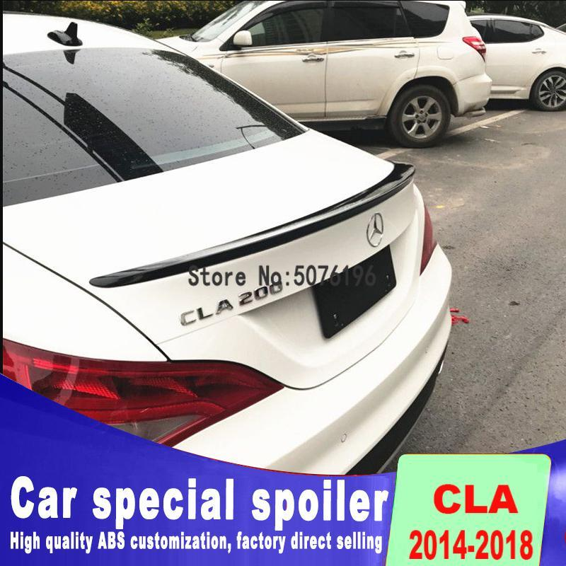High quality streamline <font><b>spoilers</b></font> for benz CLA W117 <font><b>CLA200</b></font> CLA220 CAL260 rear trunk wing <font><b>spoiler</b></font> by 2014 to 2018 + up image