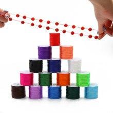 0,7 MM Wahl 16 Farben 50 Meter Stretchy Elastische Seil String Linie Schnur Perlen Perlen DIY für Schmuck Machen Armband & halskette
